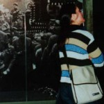 A woman examines an exhibit at the Nurember Dokumentationzentrum located in the never-finished Nazi Party Kongresshalle in Nuremberg
