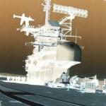 Shot from the forward flight deck